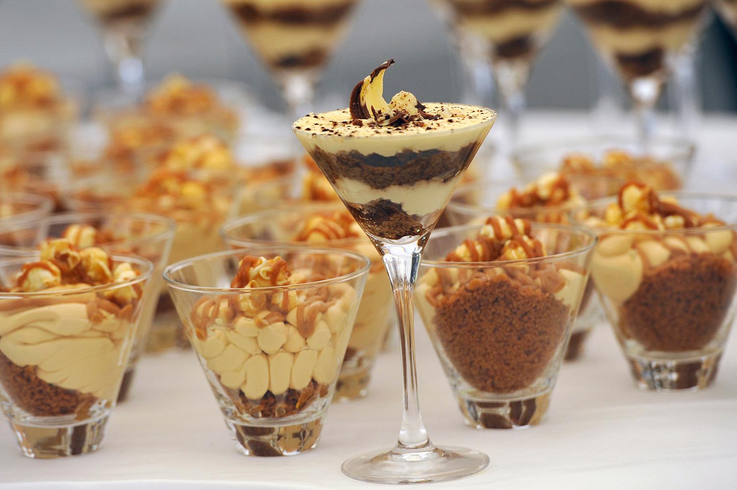 Desserts in glasses