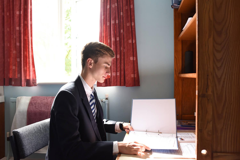 International School Student in Kings Boarding House Bedroom
