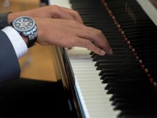 International Student Playing Piano