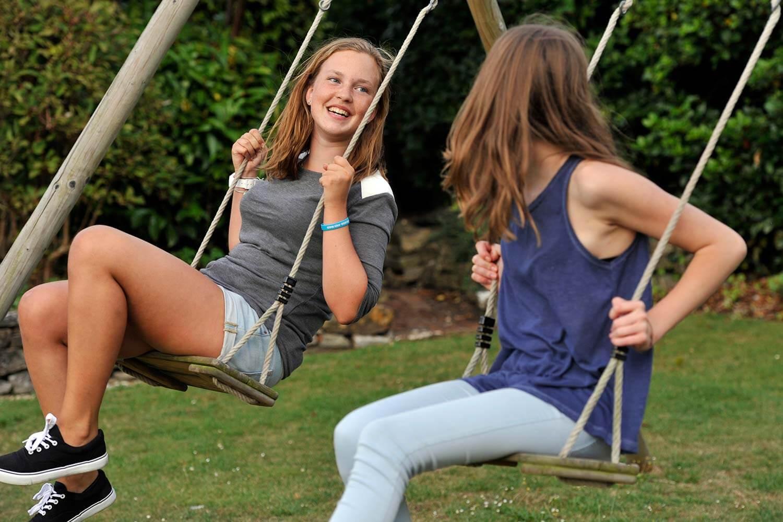 UK summer school - Westcott boarding house garden