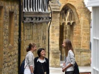 UK summer school - students exploring Sherborne