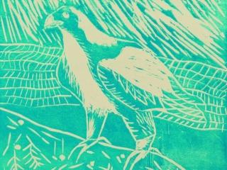 Bird Linocuts 1 by Eryk (Year 8)