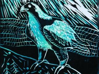 Bird Linocuts 2 by Eryk (Year 8)