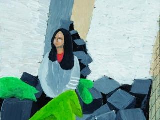 Figure in a Room in Acrylic by Yuki (Year 11)