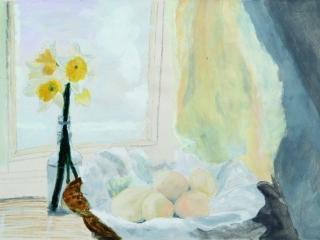 Still Life on Windowsill in Acrylic by Karen (Year 11)