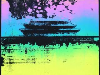 Tiananmen Square Silkscreen Print 2 by Bell (Year 11)