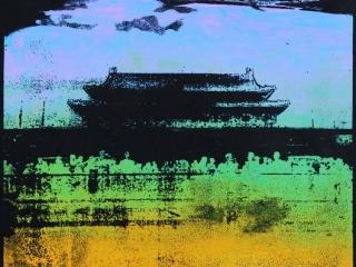 Tiananmen Square Silkscreen Print 3 by Bell (Year 11)
