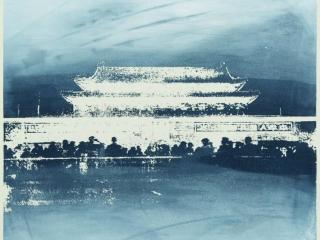 Tiananmen Square Silkscreen Print 4 by Bell (Year 11)