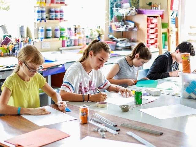 Summer school photos - art lesson 5