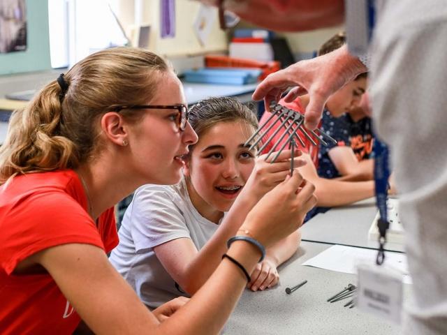 Summer school photos - physics lesson