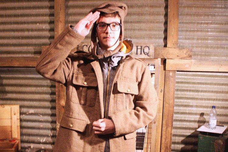 Sherborne International Student at Bovington Tank Museum
